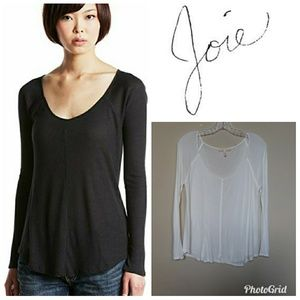 Joie | Scoop Neck Tee Long Sleeve Soft Joie M